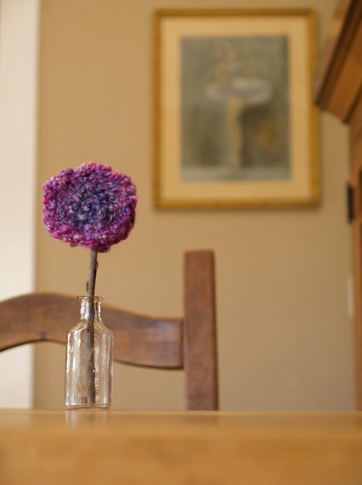 Finger Knitting Flowers : Finger knitted flowers the magic onions