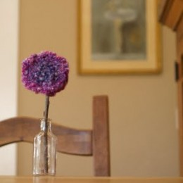 Finger Knitted Flowers.