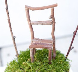 Fairy Furniture – A Stick Chair for your Fairy Garden