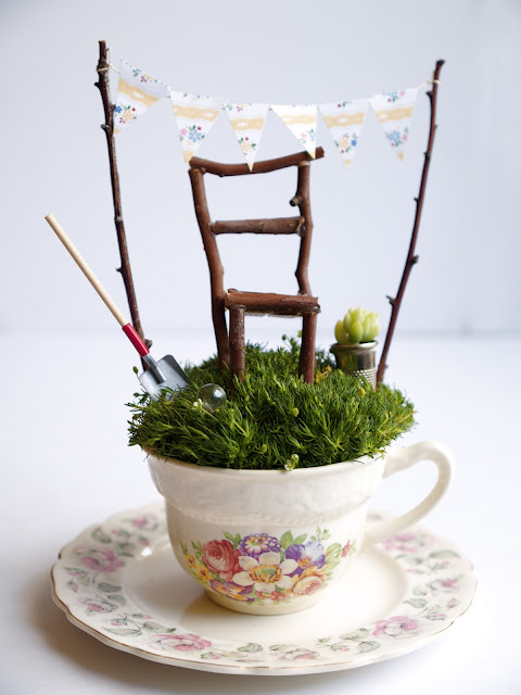 A Fairy Garden in a Tea Cup.
