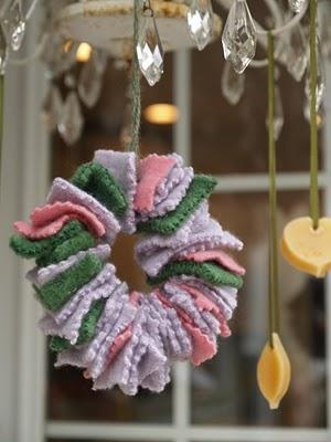 waldorf Christmas ornament