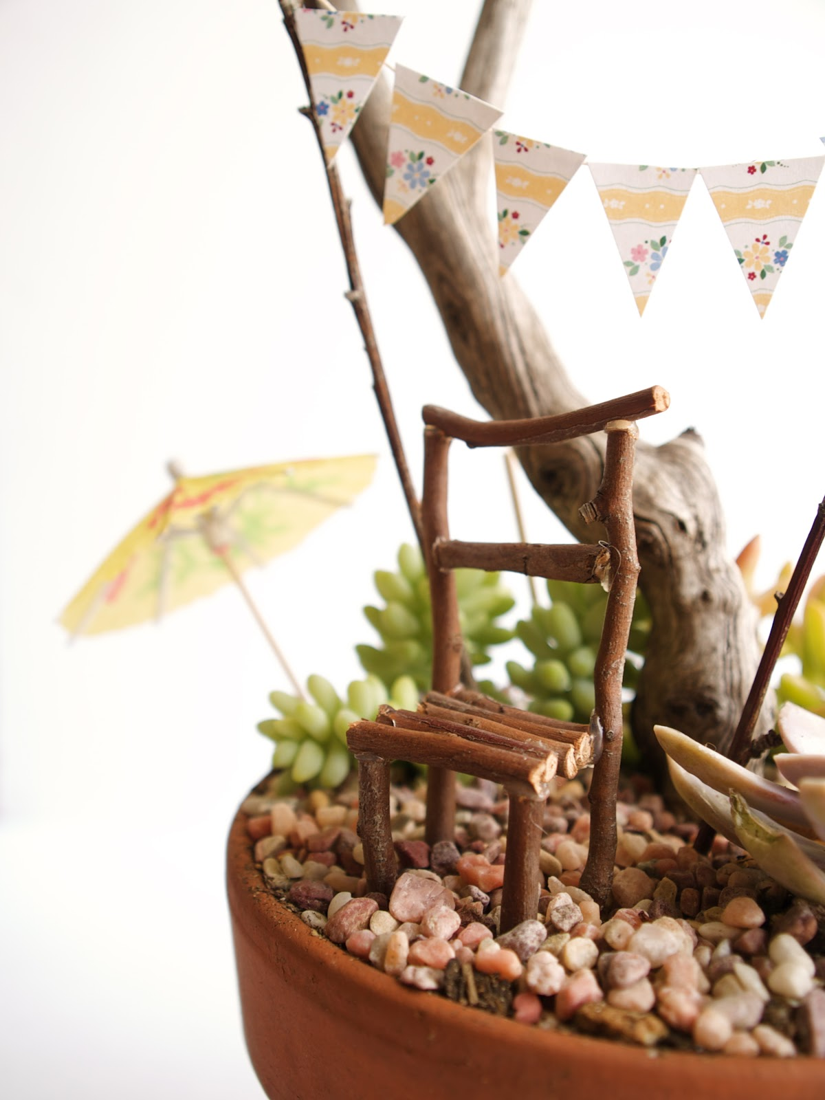 Fairy Furniture A Stick Chair For Your Fairy Garden