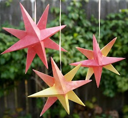 Folded Paper Christmas Origami Stars
