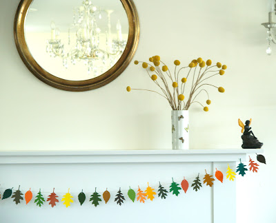 Make A Colorful Autumn Leaf Garland