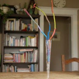 Yarn Wrapped Branches for Spring