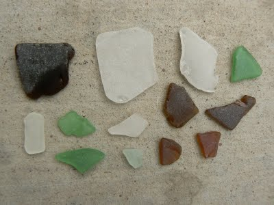 Colorful Frosty Sea Glass