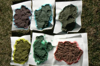 drying colored sand