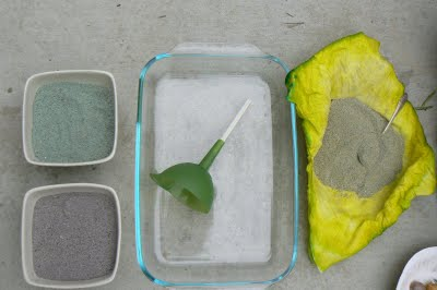 Painting With Colored Sand.