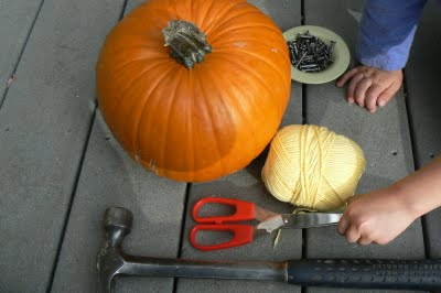 Supplies needed for pumpkin nailing