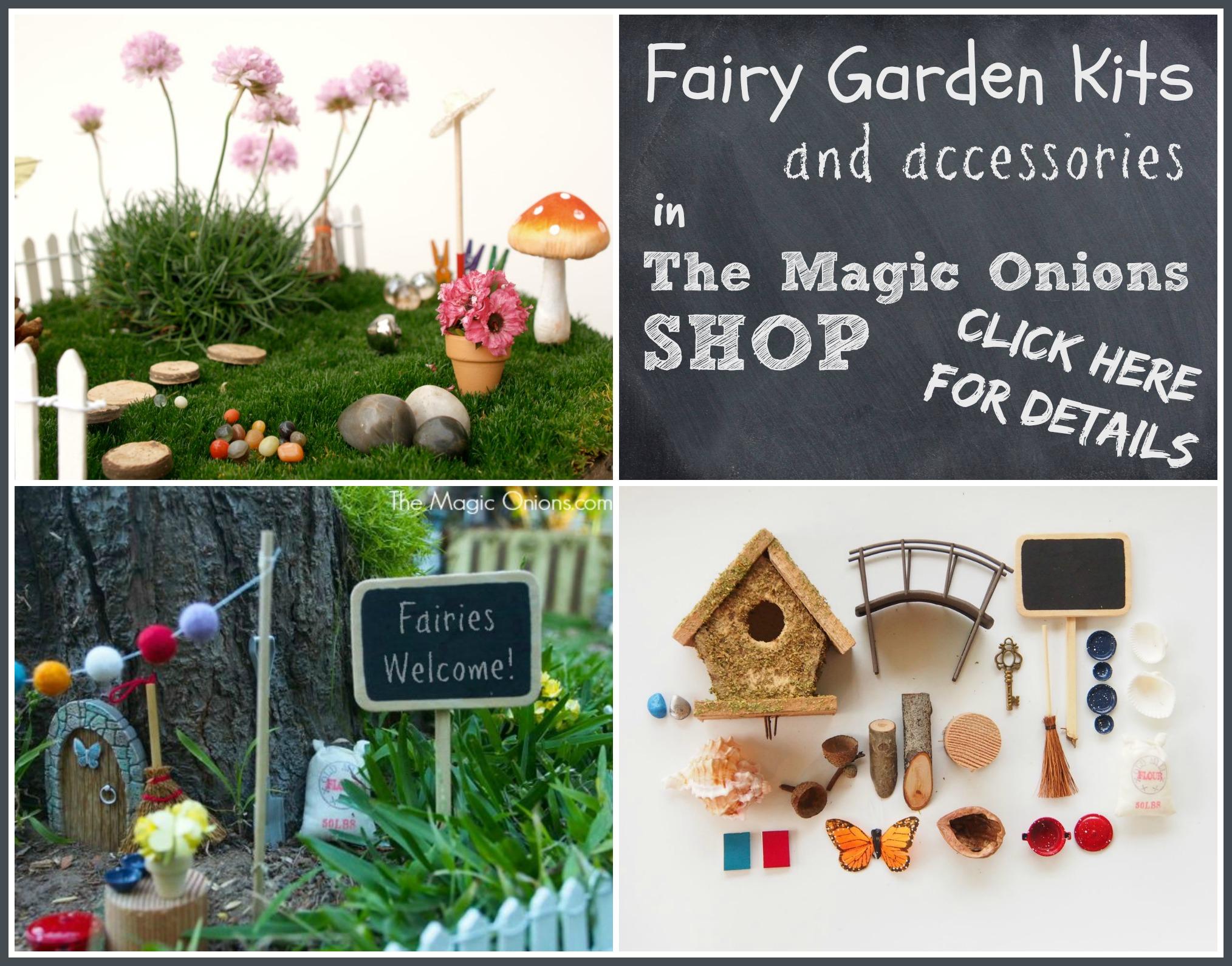 Fairy Garden Accessory Kits : www.theMagicOnions.com/shop