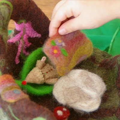 Felted gnome playscape