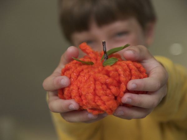 Make a Yarn Pumpkin for Halloween