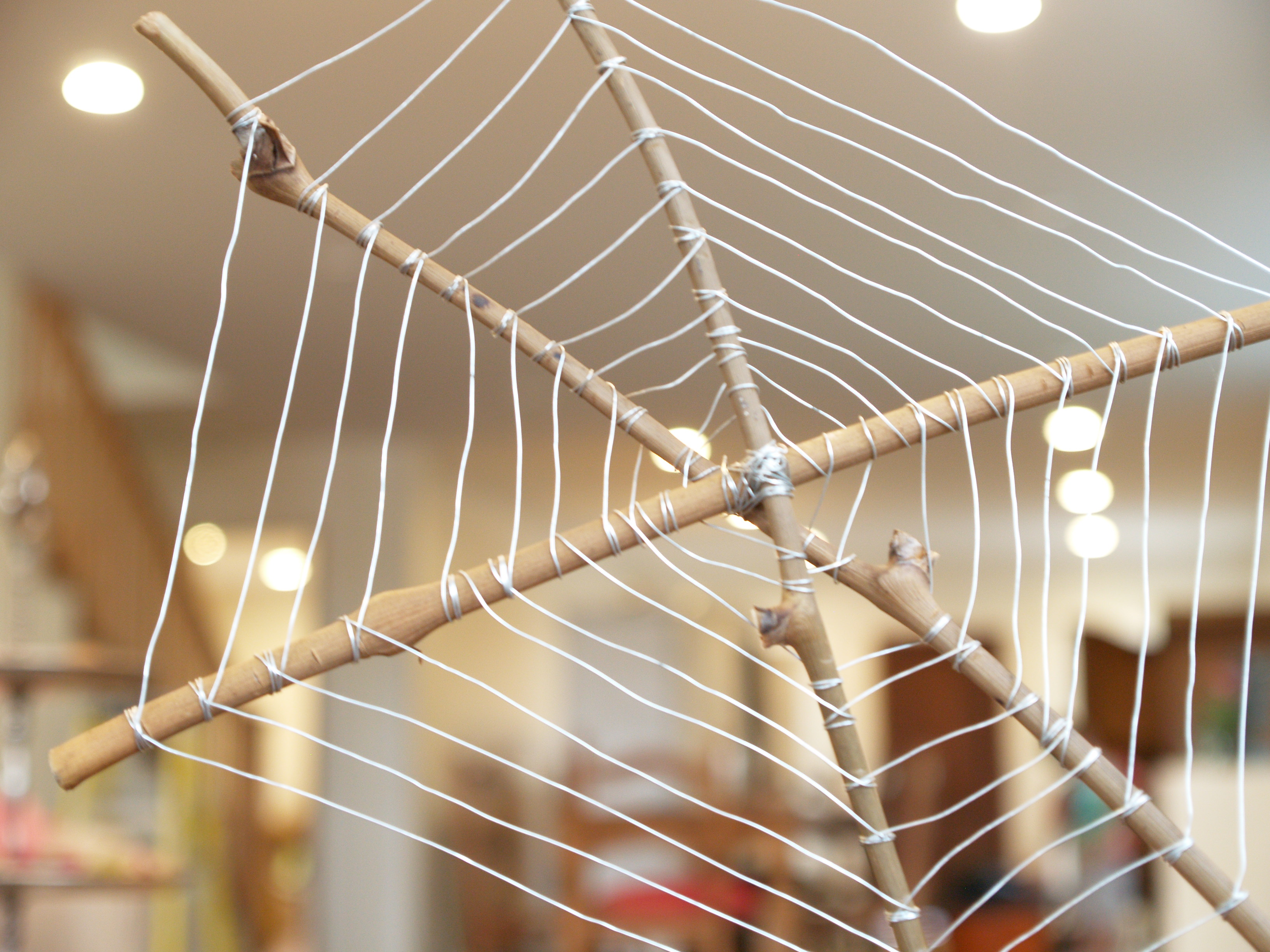 Let's Make a Wire Spiderweb for Halloween