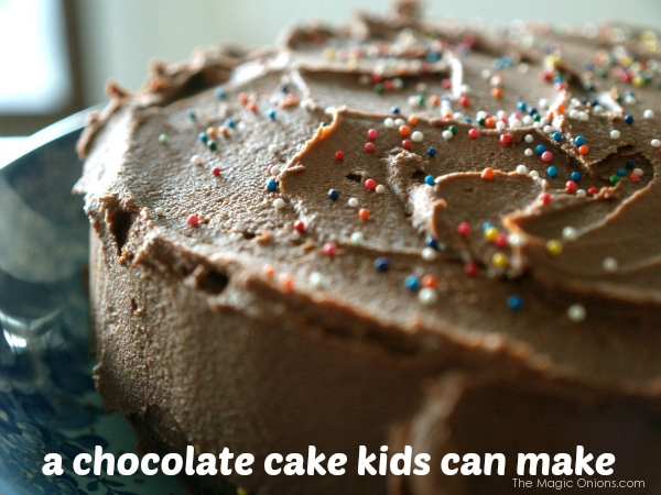a chocolate cake kids can make photo