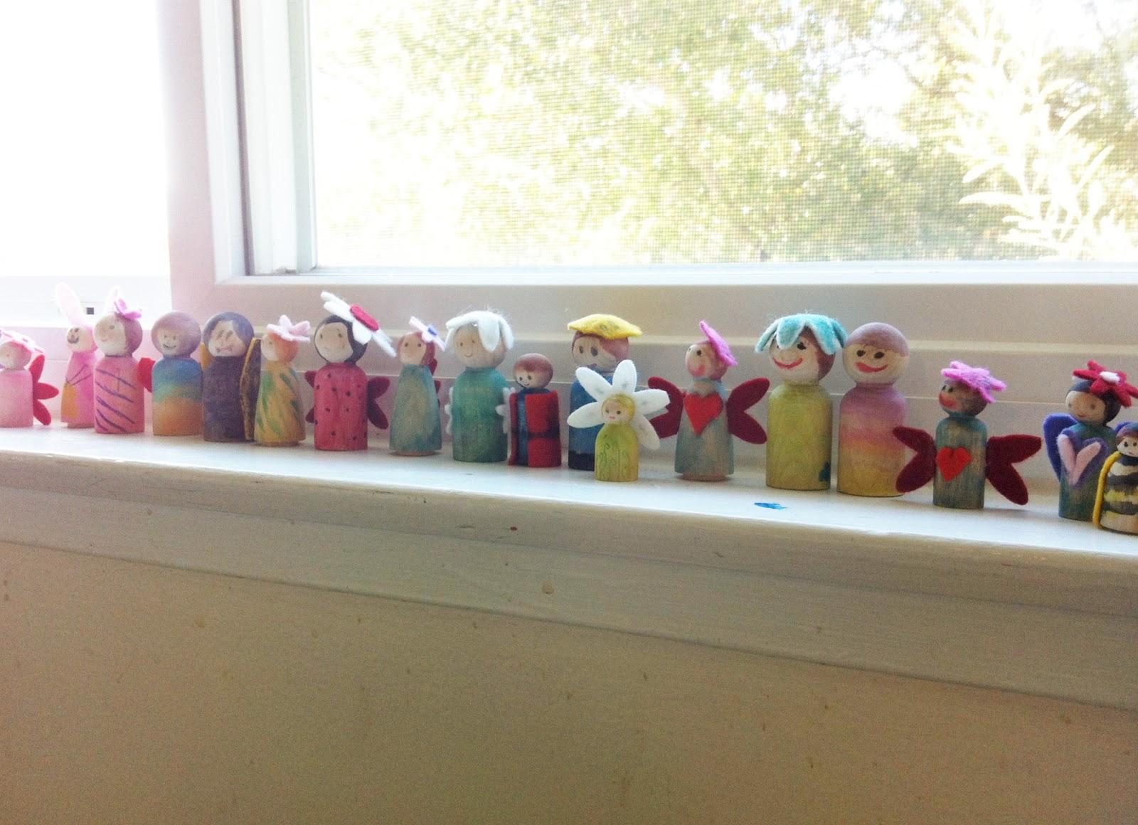 Making Peg Dolls - www.theMagicOnions.com