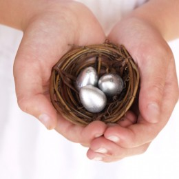 Make a Pretty Silver Easter Nest