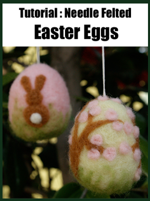Make A Needle Felted Easter Egg :: Felting Tutorial
