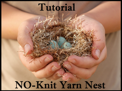 Make a Fluffy Yarn Easter Nest : Tutorial