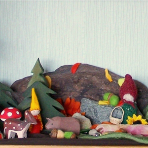 Autumn Nature Display on Discovering Waldorf Education on The Magic Onions Blog