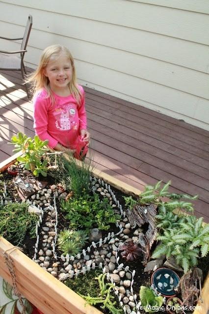 A magical kid-friendly fairy garden from The Magic Onions Blog