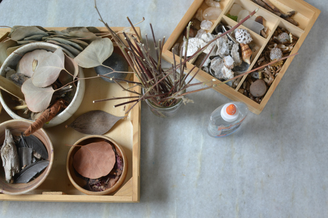 Building with sticks - a nature craft