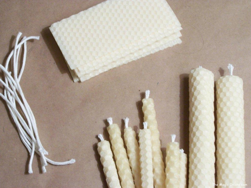 Crafting with Natural Materials - Beeswax and candle wick - Discovering Waldorf :: www.theMagic Onions.com
