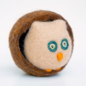 Needle Felted Owl - Waldorf Toy - www.theMagicOnions.com