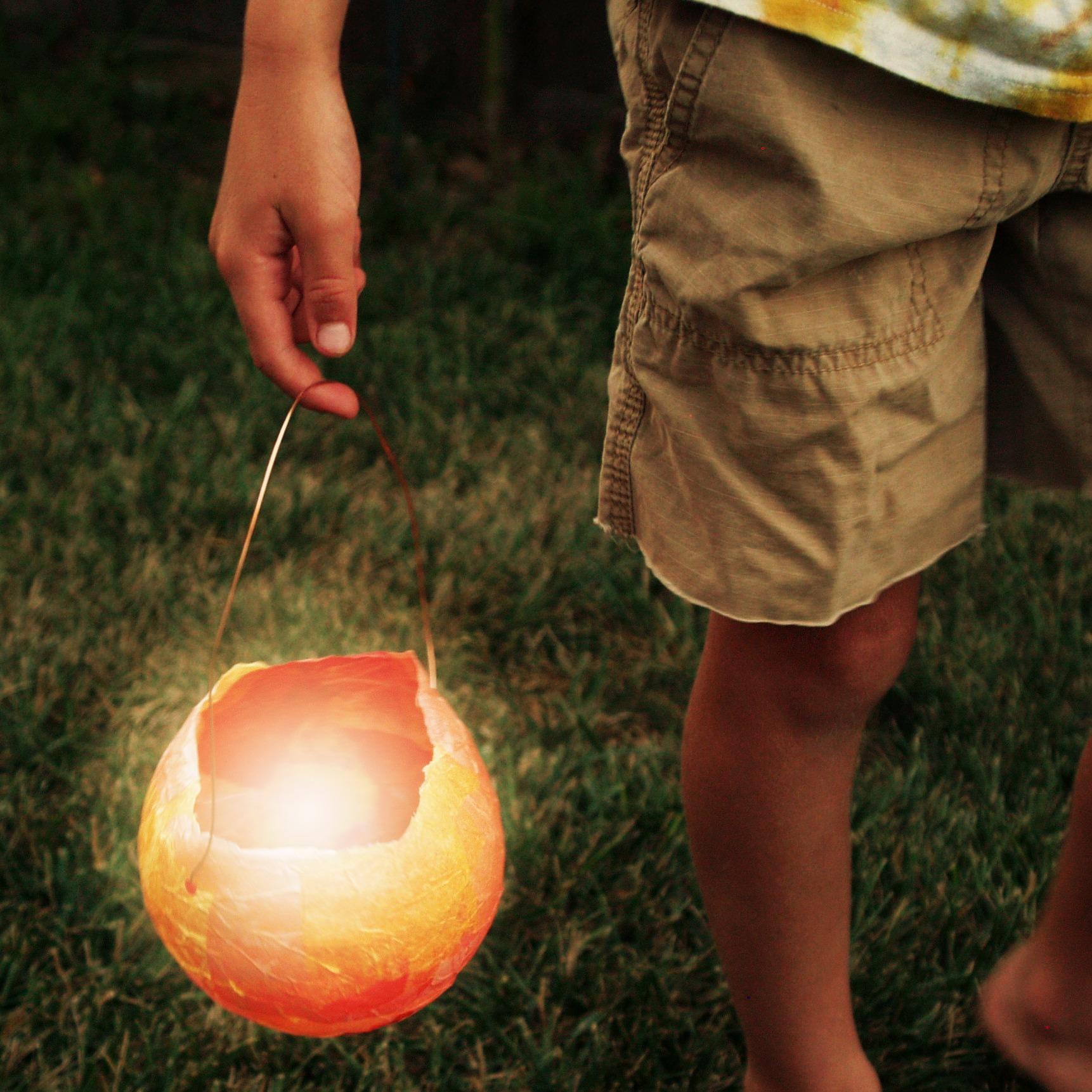 Magic Craft Box : Fall Lantern Waldorf Craft : www.theMagicOnions.com