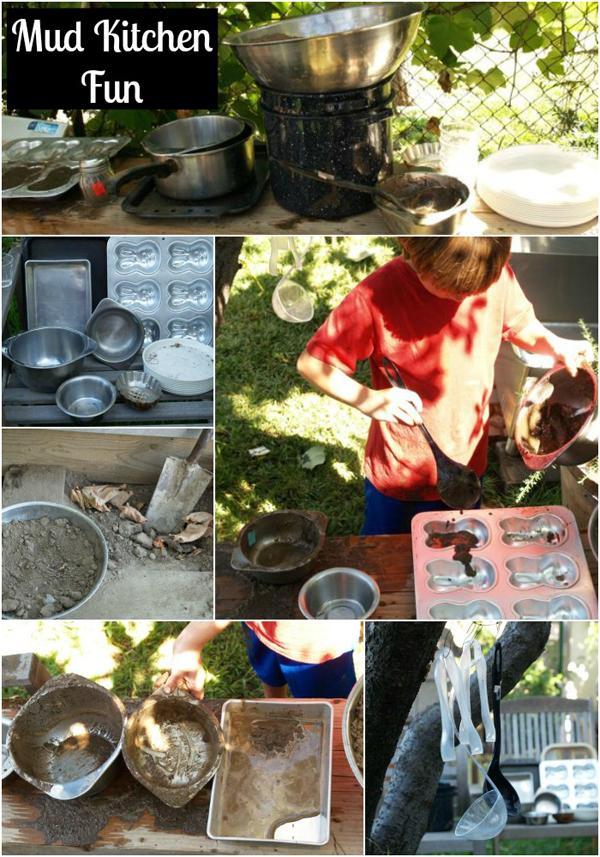 Mud Kitchen Fun : Autumn Waldorf Play for Boys : www.theMagicOnions.com