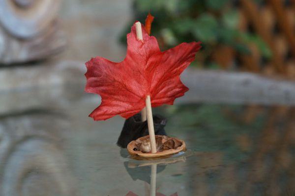Fall Magic Craft Box : Walnut Leaf Boats : Waldorf Craft : www.theMagicOnions.com
