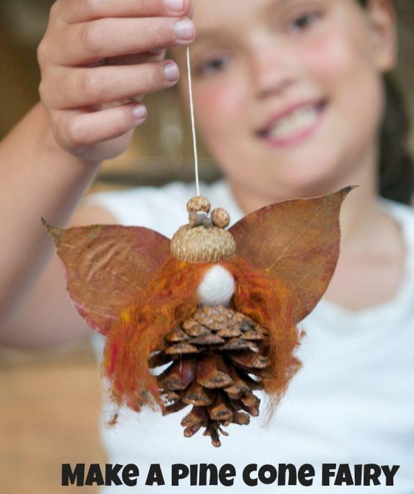 Make a Pine Cone Fairy using natural materisals