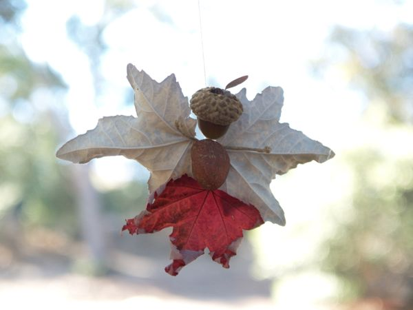 Fairy made from Autumn Leaves  : www.theMagicOnions.com