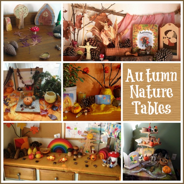 Waldorf Autumn Nature Tables : www.theMagicOnions.com