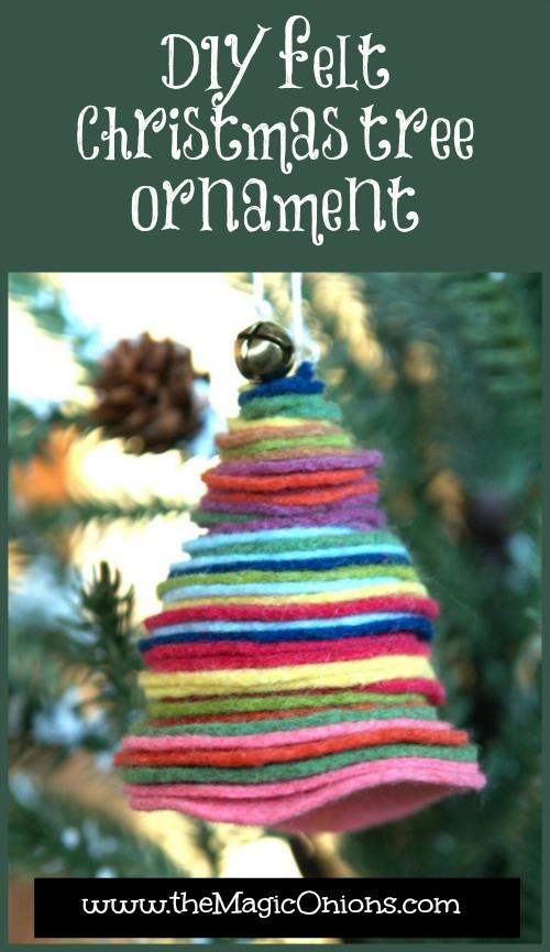 DIY Felt Christmas Tree Ornament : www.theMagicOnions.com