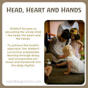 Educating through the Head, the Heart and the Hands Discovering Waldorf www.theMagicOnions.com