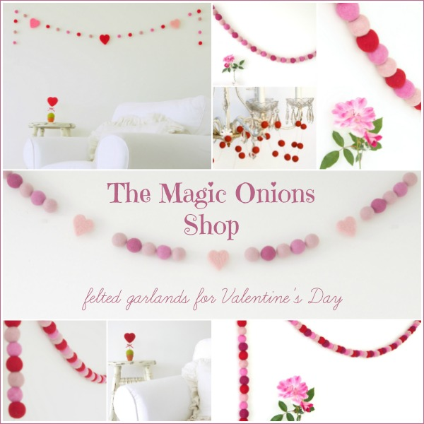 Felted Garlands for Valentine's Day : www.theMagicOnions.comshop