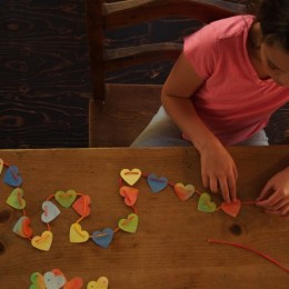 Let's Make a Colorful Heart Garland