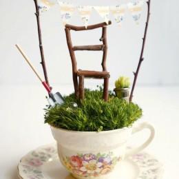 Tea Cup Fairy Garden : Tutorail