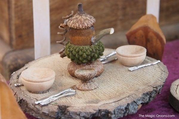 Fairy acorn tea cup and tea pot from The Magic Onions Blog