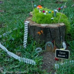 Our Fairy Garden in a Stump :: More Photos!