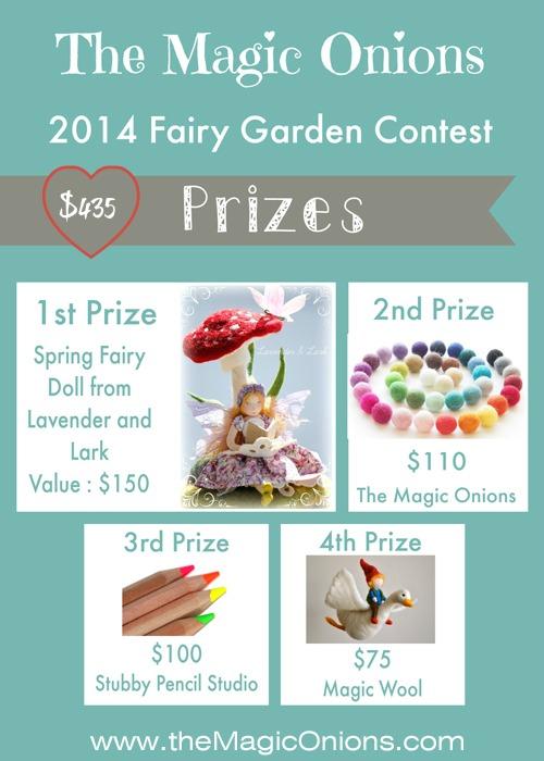 Prizes - Fairy Garden Contest 2014 on The Magic Onions.com