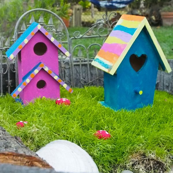 DIY Painted Fairy House : The Magic Onions : www.theMagicOnions.com
