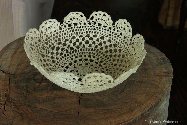 Tutorial : crochet lace bowl : theMagicOnions.com