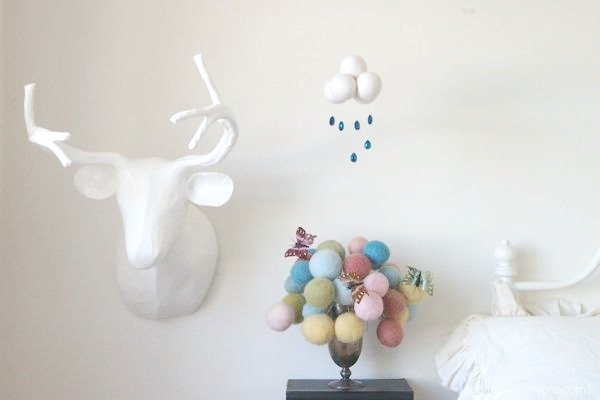 Needle Felted Cloud Mobiles and Garlands