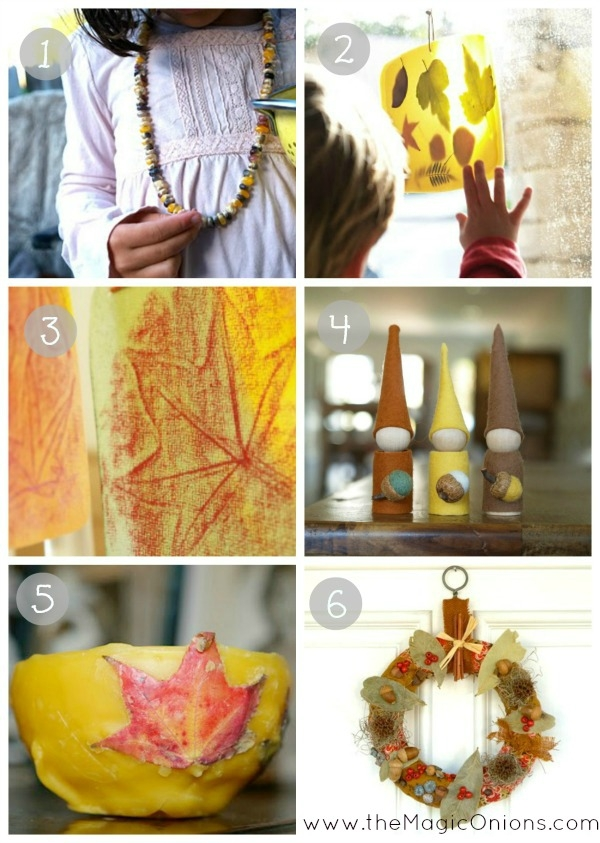 6 Awesome Nature Inspired Fall Crafts to do with Kids : www.theMagicOnions.com