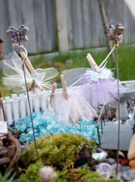 Fairy Tutu Washing Line Fairy Garden : Finalist in the Fairy Garden Contest : www.theMagicOnions.com