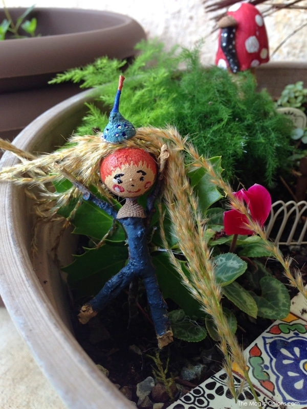 Child Made Fairy Garden : 2nd Place Winner of the  2014 Fairy Garden Contest on The Magic Onions : www.theMagicOnions.com
