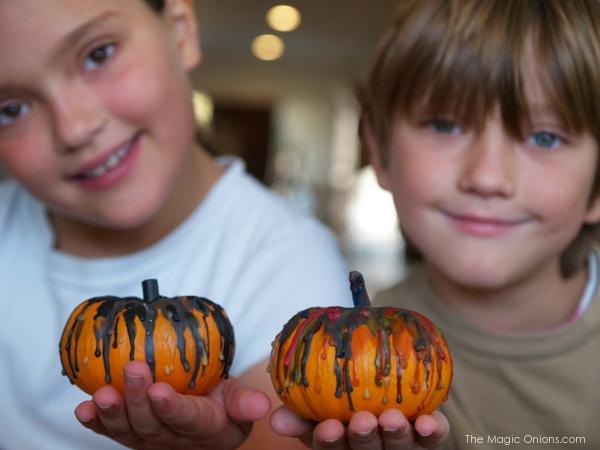 Melted Wax Pumpkins : The Magic Onions Blog