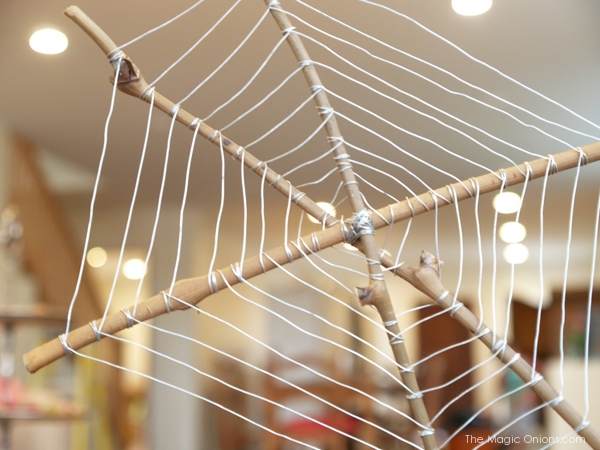 Make a Spider Web With Wire and Sticks
