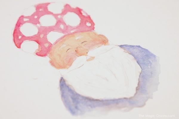 Watercolor Gnome : The Magic Onions